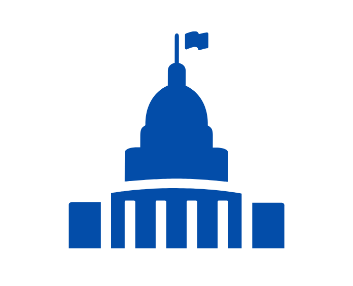 Graphic of a capital building