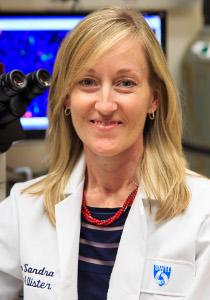 Sandra McAllister in lab