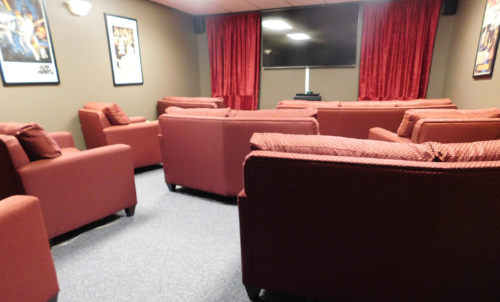 Marshfield, WI Hope Lodge Movie Room
