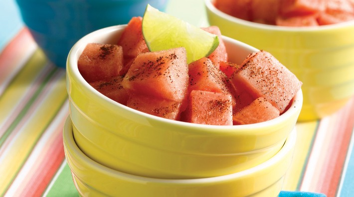 close up of the recipe, Zesty Watermelon