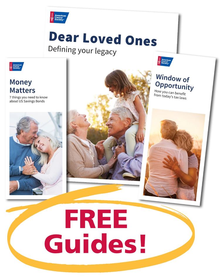 Covers of Money Matters, Dear Loved Ones, and Window of Opportunity Brochures, Free Guides