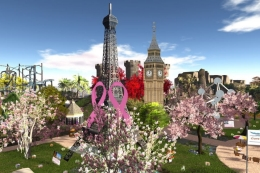 Virtual cgs image of many tourist attractions