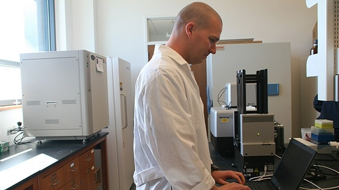 Kyle Hadden, PhD in his lab at University of Connecticut