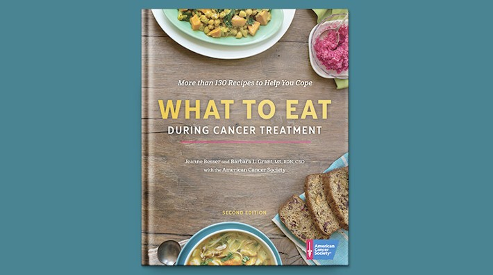 book cover for the ACS book, hat to Eat During Cancer Treatment 2nd Editition