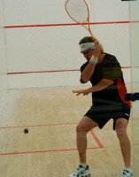 photo of Brian Waddington playing squash