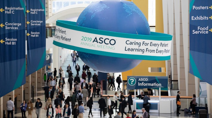 crowd in lobby of ASCO 2019 annual meeting in Chicago, IL - McCormick Place
