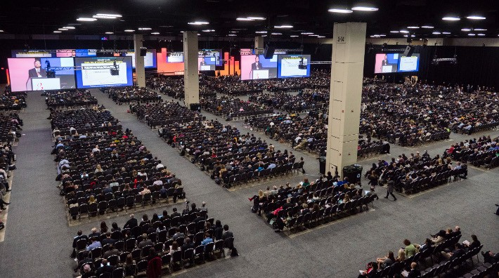 wide view of convention center at the 2016 San Antonio Breast Cancer Symposium