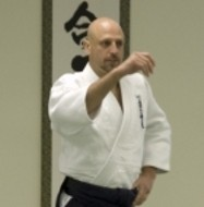 photo of Michael Veltri teaching aikido