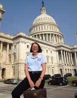 photo of Julie Turner in front of US Capitol